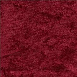 Crushed Panne Velour Burgundy Fabric