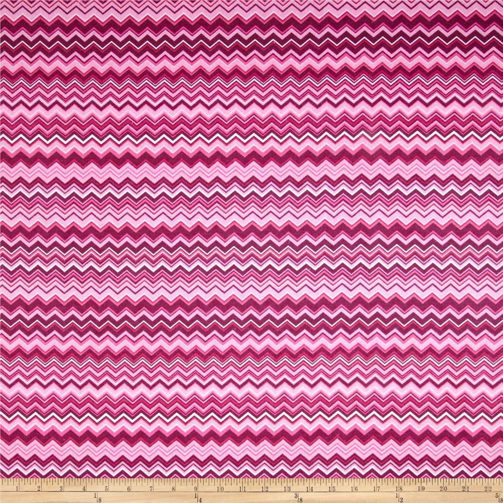 Chevron Flannel Pink/Fuschia