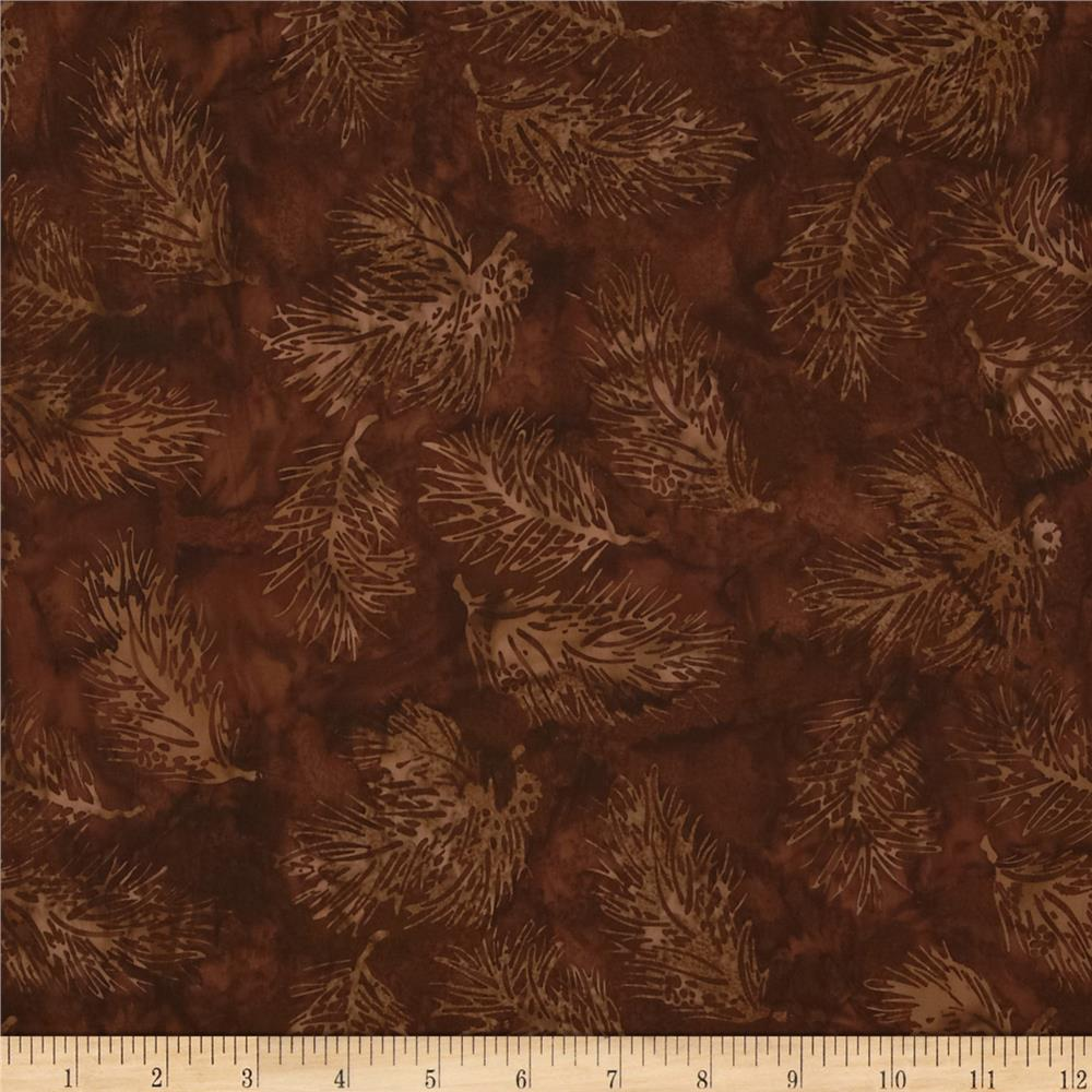 Bali Batiks Pine Leaves Brown