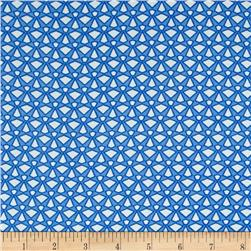 Picasso Rayon Poplin Diamond Print Royal