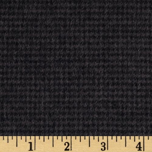 Kaufman Shetland Flannel Houndstooth Graphite Fabric By The Yard