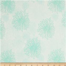 Art Gallery Elements Floral Icy Blue Fabric