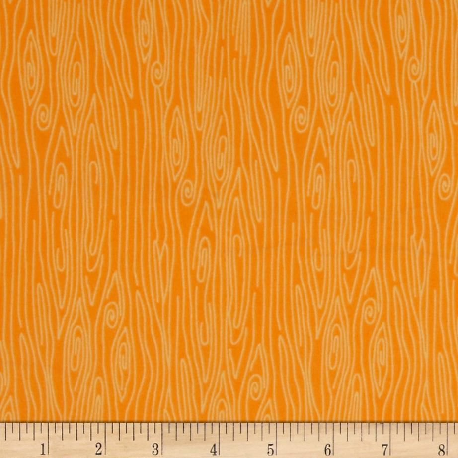 Riley Blake Happy Harvest Flannel Wood Orange