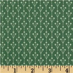 Color Love Branch Stripe Green Fabric