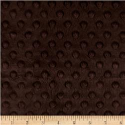 "Minky Cuddle Dimple Dot 90"" Chocolate"