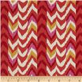 Waverly Living Color Chevron Stripe Twill Fiesta