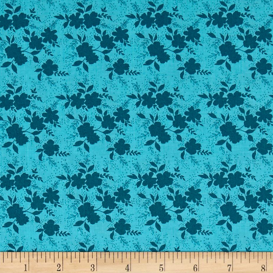 Sweet Florals Shadow Flower Turquoise