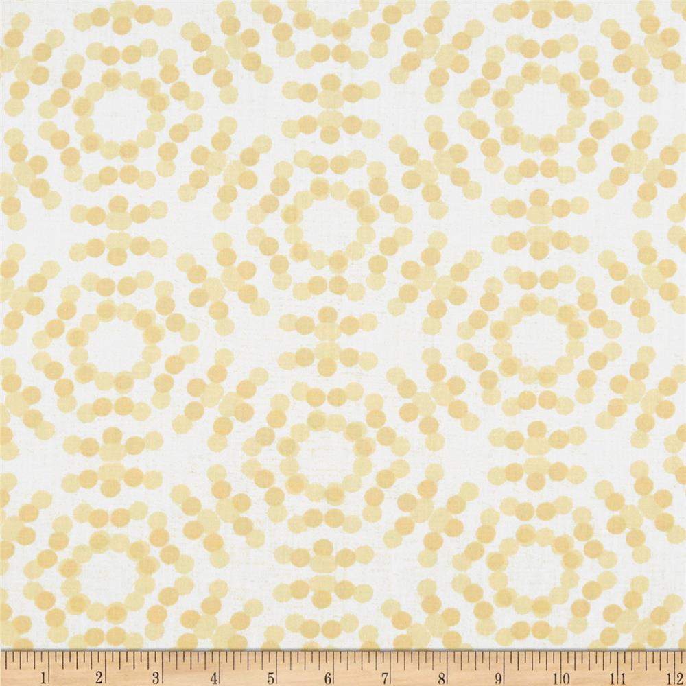 "108"" Spot On Quilt Backs Circle Dots Ivory"