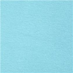 Basic Cotton Baby Rib Knit Solid Soft Powder Blue