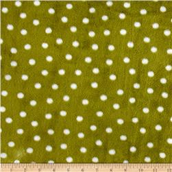 Minky Cuddle Prints Alotta Dots Kiwi