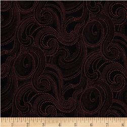 Imperial Dotted Scroll Black/Cranberry
