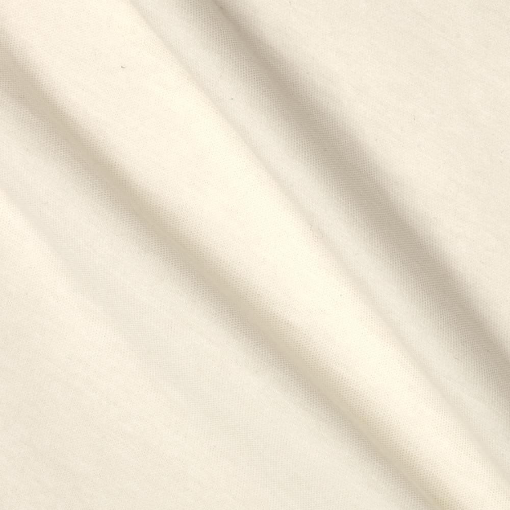 Tissue Cotton Blend Jersey Knit Solid Very White
