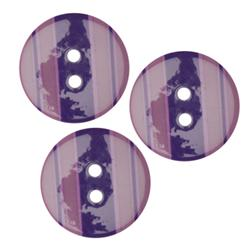 Fashion Button 3/4'' Confetti Stripe Purple