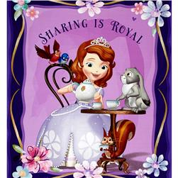 Disney Sofia the First Panel Purple