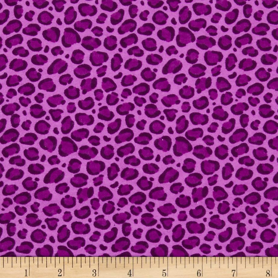 Flannel Leopard Print Purple