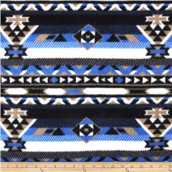 Fleece Azrec Print Black/Blue/Cream