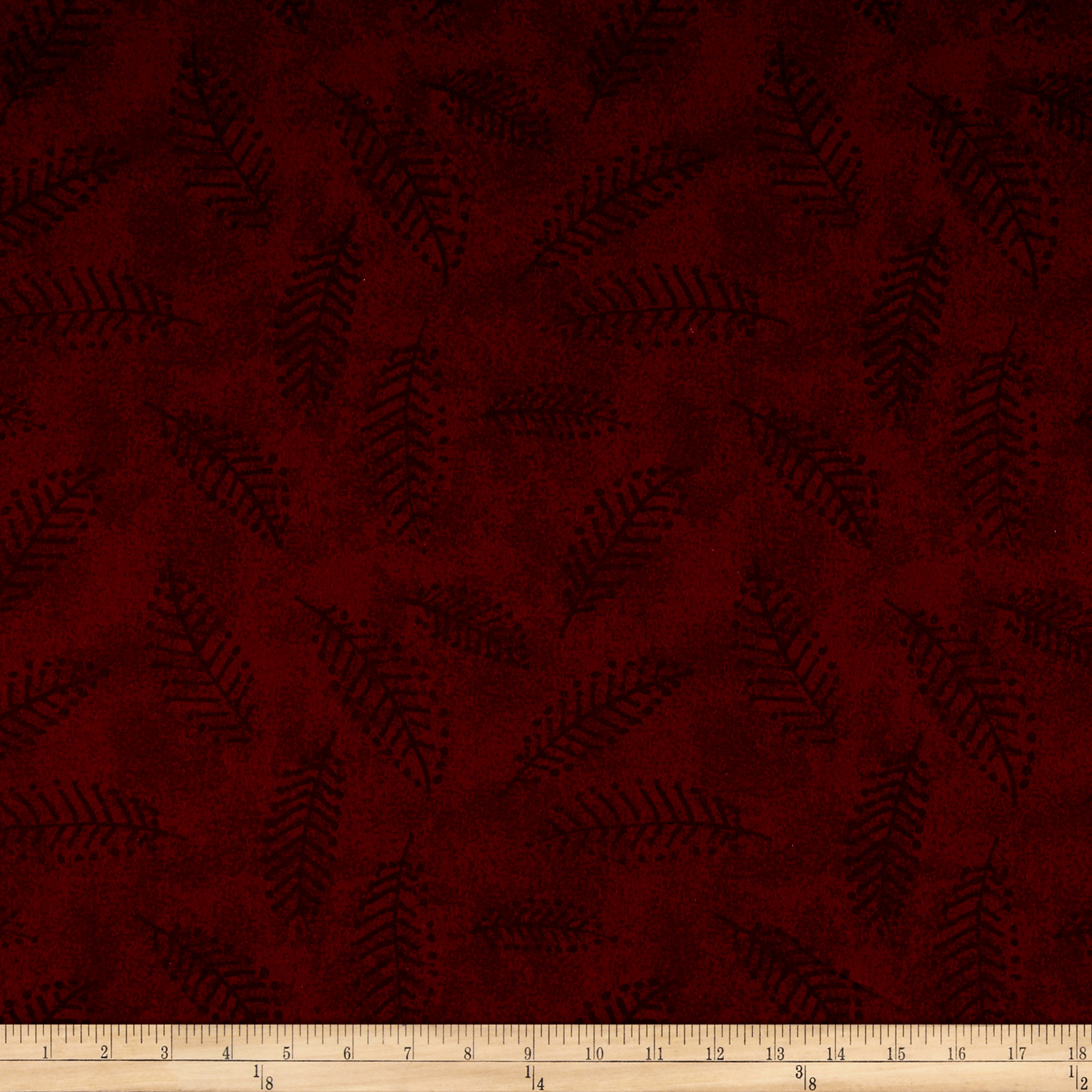 110'' Wide Flannel Quilt Back Fern Wine Fabric by Westrade in USA