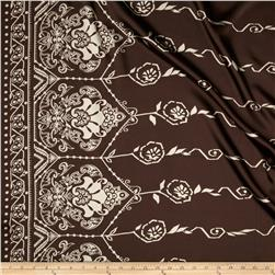 Charmeuse Abstract Borders Brown/Beige