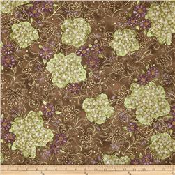 Lavender and Lace Floral Bunches Brown