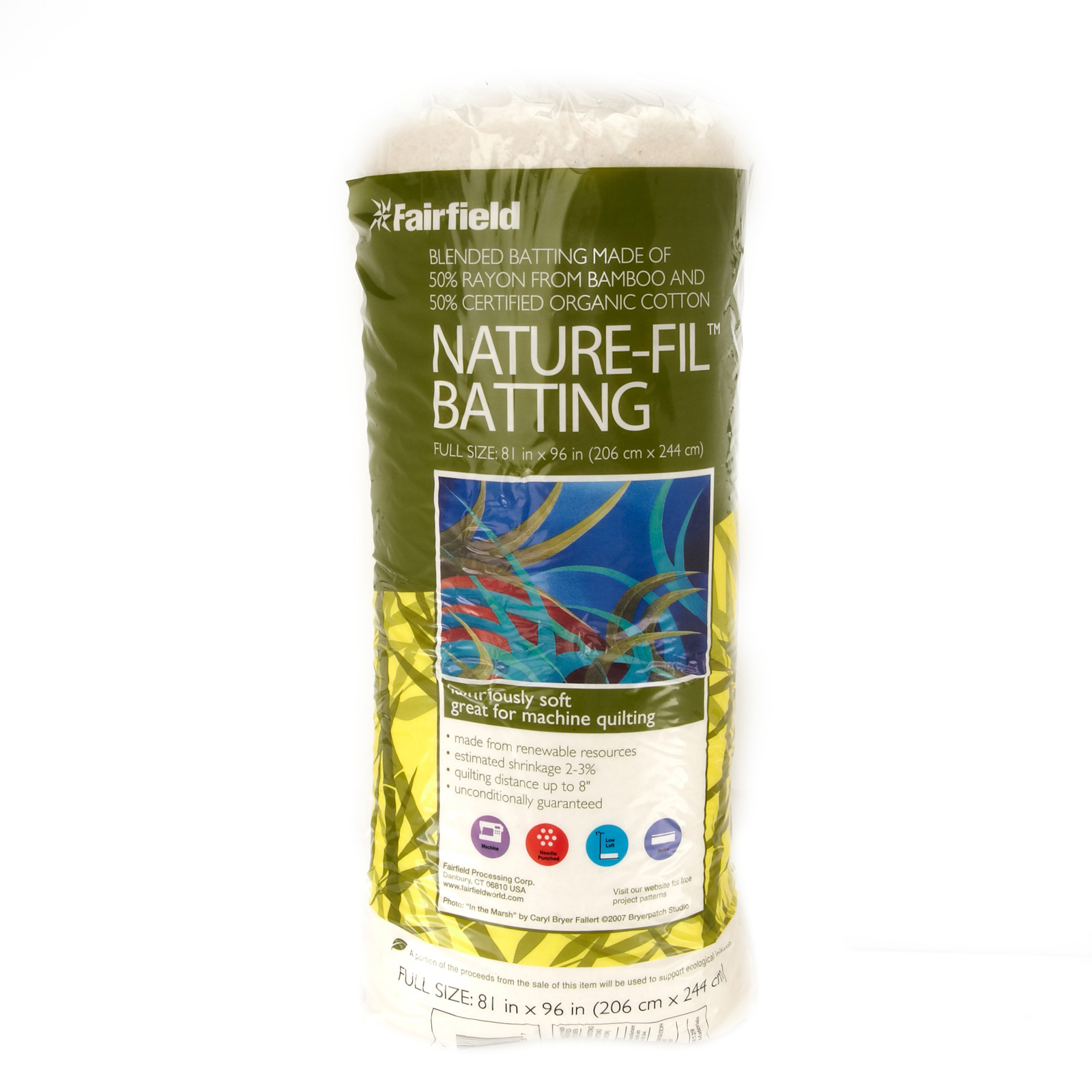 Fairfield Nature-Fil Batting Full 81'' X 96'' by Fairfield in USA