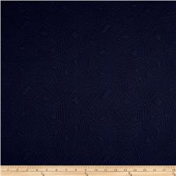 Diamond Double Knit Jacquard Navy