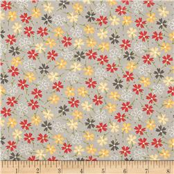 Moda LuLu Lane Pansies Grey