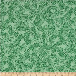 A New Leaf Swirling Vine Jade Fabric