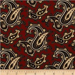 Tavern Collection Paisley Red
