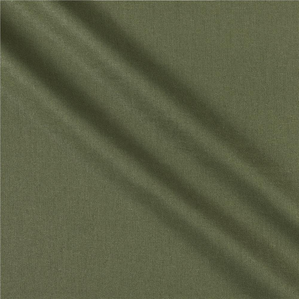 Kaufman Brussels Washer Linen Blend Olive Green