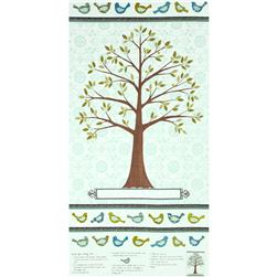Moda Family Tree Tree Panel Robins Egg Blue