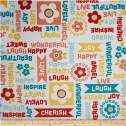 Adorn-it Minky Cuddle Word Play Juicy Fruit Fabric