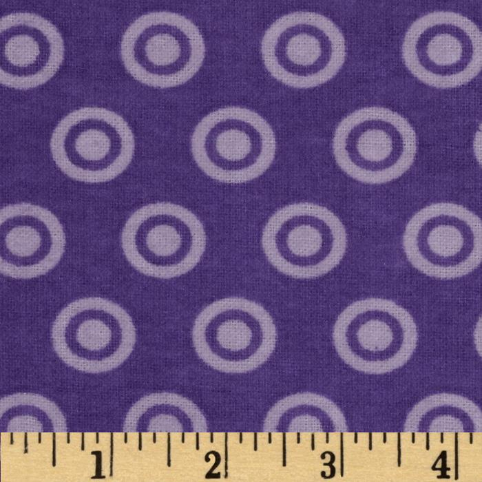 Alpine Flannel Basics Circle Dots Tonal Lavender