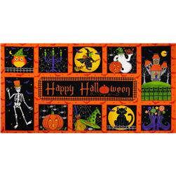 Moda Moonlight Manor Panel Pumpkin Orange