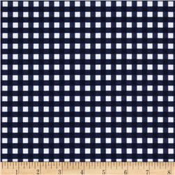 Riley Blake Basics Medium Gingham Navy