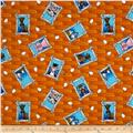 The Farm at Whistle Pig Creek Flannel Animal Faces Orange