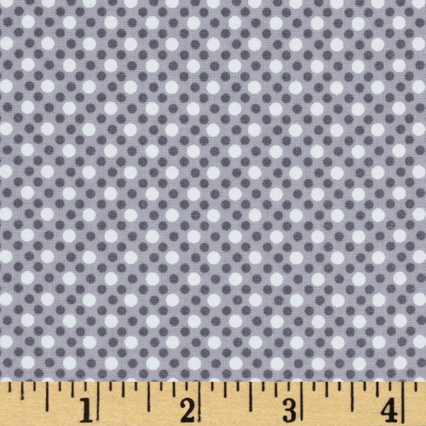 Michael Miller Dim Dots Fog Fabric