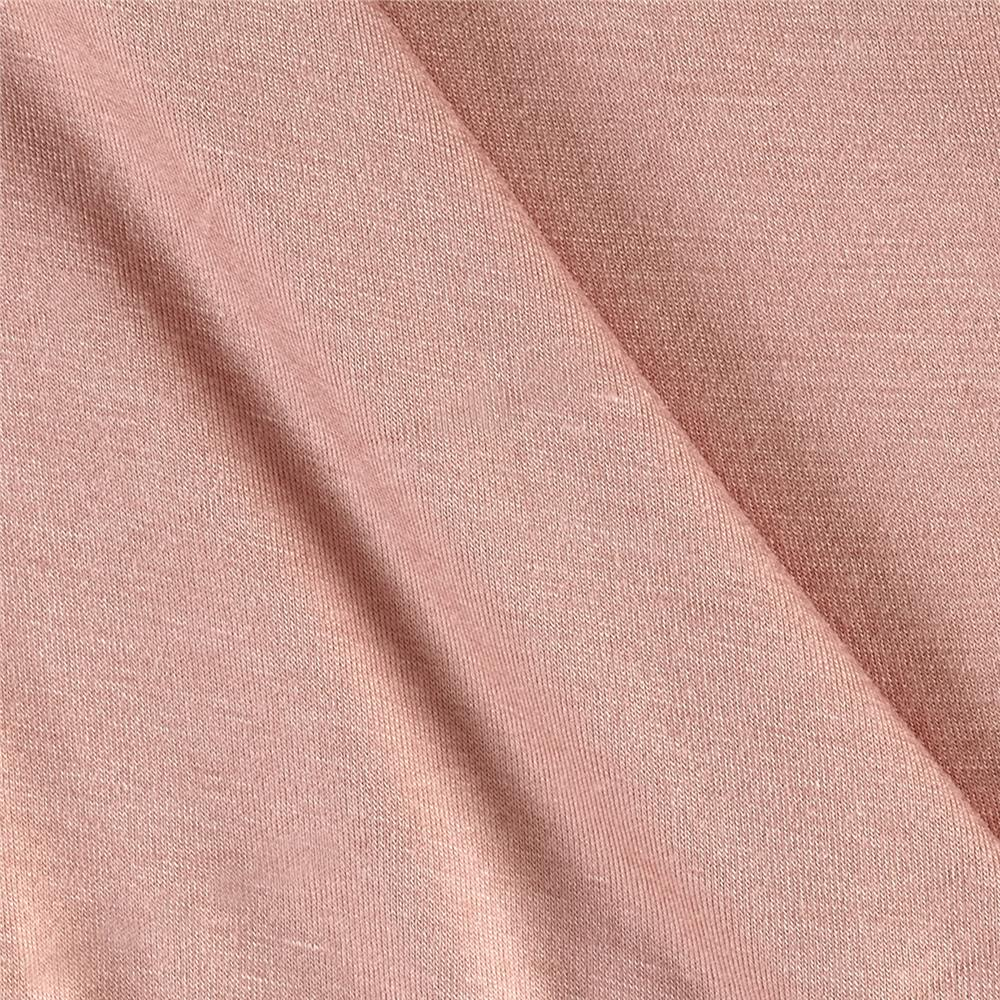 Jersey Knit Solid Rose Fabric By The Yard