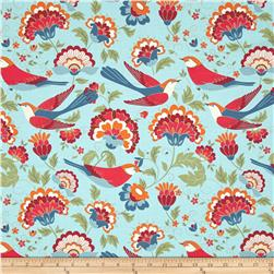 Bloomsberry Birds Floral Blue