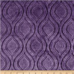Premier Prints Embossed Marquise Cuddle Violet Fabric