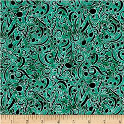 Encore Musical Notes Green