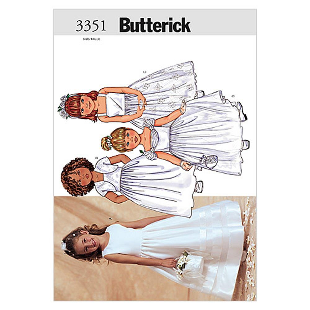 Butterick Children's/Girls' Jacket & Dress Pattern B3351 Size 020