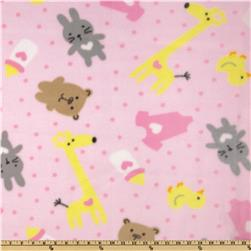 WinterFleece Baby Playtime Pink Fabric