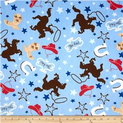 Minky Cuddle My Lil Buckaroo Sky Fabric
