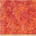 Wilmington Batiks Spinning Circles Red/Orange