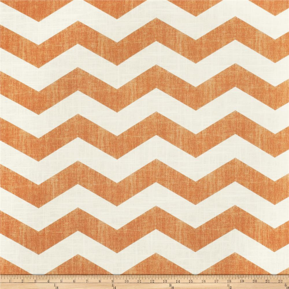 Jaclyn Smith 02603 Chevron Blend Tangerine