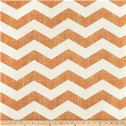 Jaclyn Smith Chevron Blend Tangerine Fabric