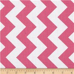 Riley Blake 108'' Wide Medium Chevron Hot Pink