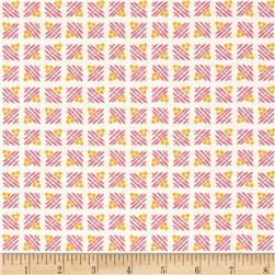 Robert Kaufman Pretty Posies Flower Grid Camelia
