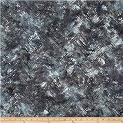 Bali Batiks Handpaints Chevron Brush Granite