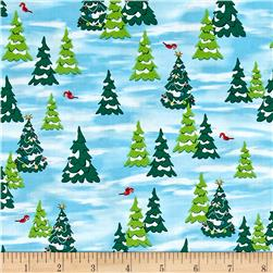 Fun With Rudolph Pine Trees Light Blue